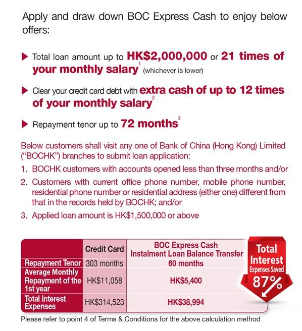 Boc Credit Card International Ltd Boc Express Cash Card