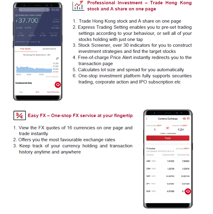 BOCHK Mobile Application | More | Bank of China (Hong Kong
